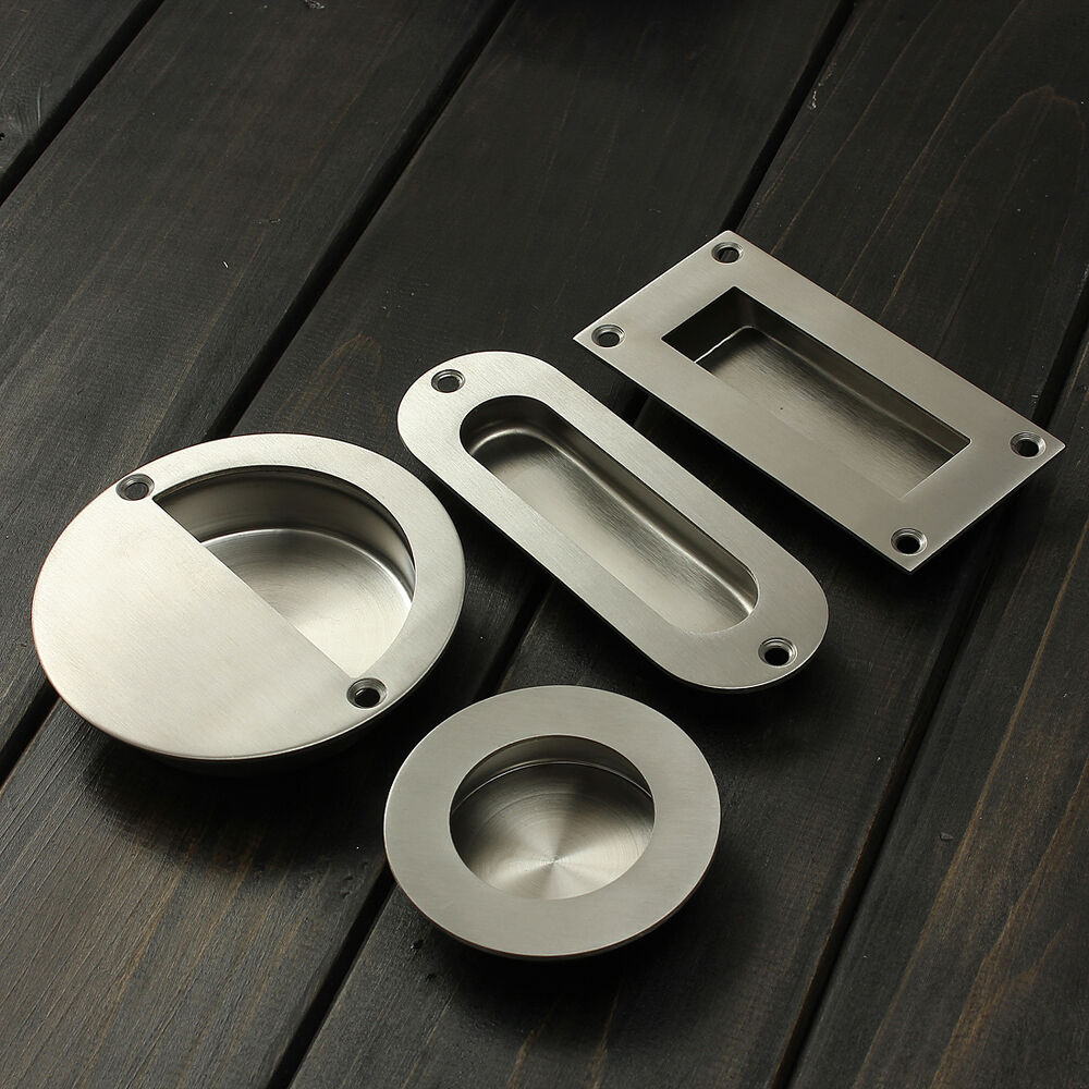 Stainless Steel Recessed Flush Pull Drawer Cabinet Door