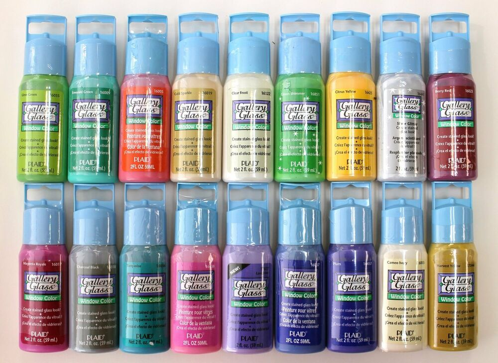 Plaid promoggii gallery glass acrylic paint 2 ounce best for Basic acrylic paint colors to have