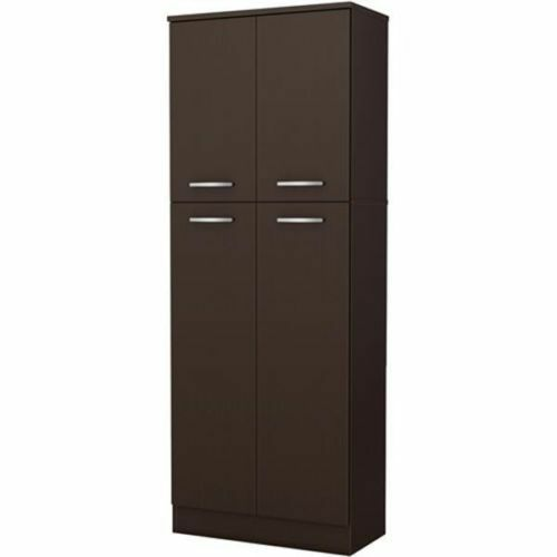 kitchen storage pantry cabinet cupboard food organizer furniture shelf tall wood ebay. Black Bedroom Furniture Sets. Home Design Ideas