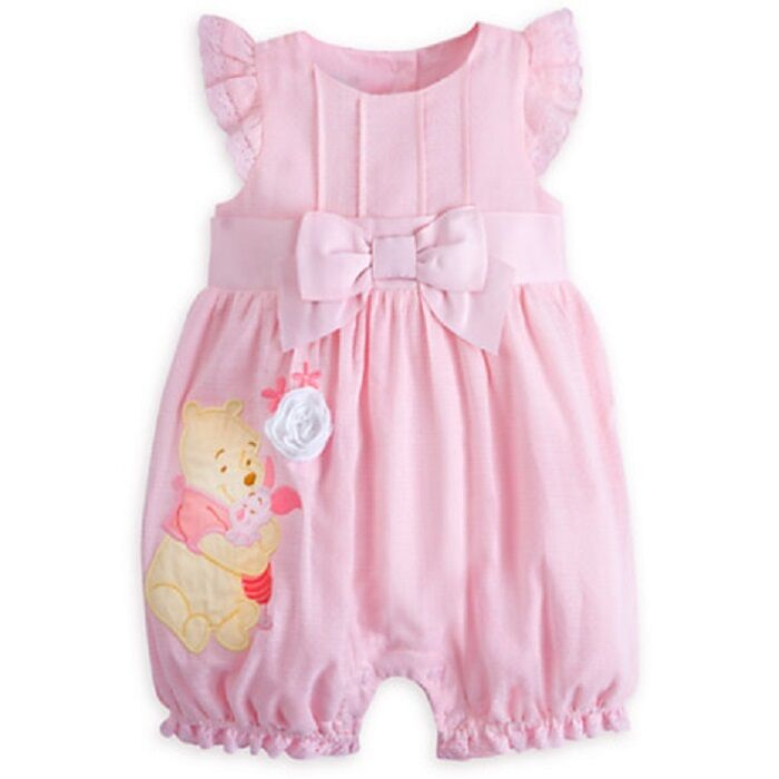 Disney Store Winnie The Pooh Piglet Woven Romper for Baby