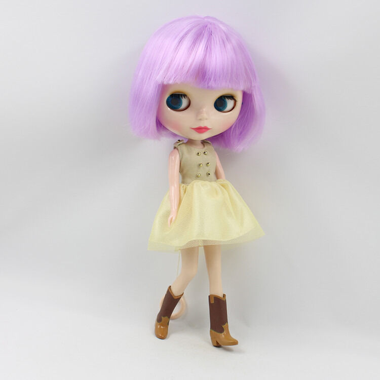 """12/"""" Neo Blythe Doll Black Short Hair With Bang from Factory Nude Doll"""