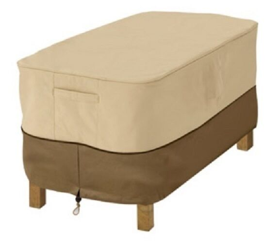 Outdoor Rainproof Rectangular Patio Ottoman Table Cover Deck Furniture
