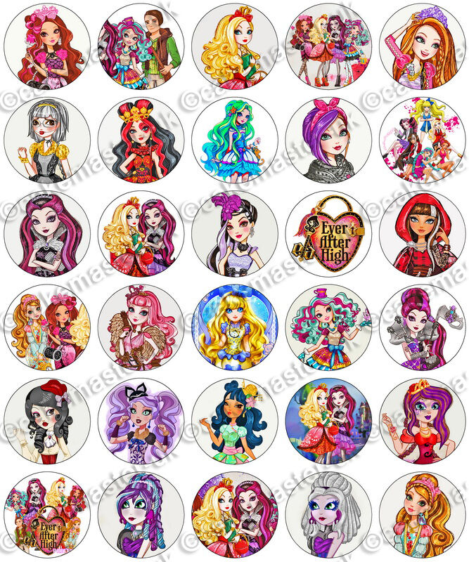 Cake Pop Toppers Printables Ever After High