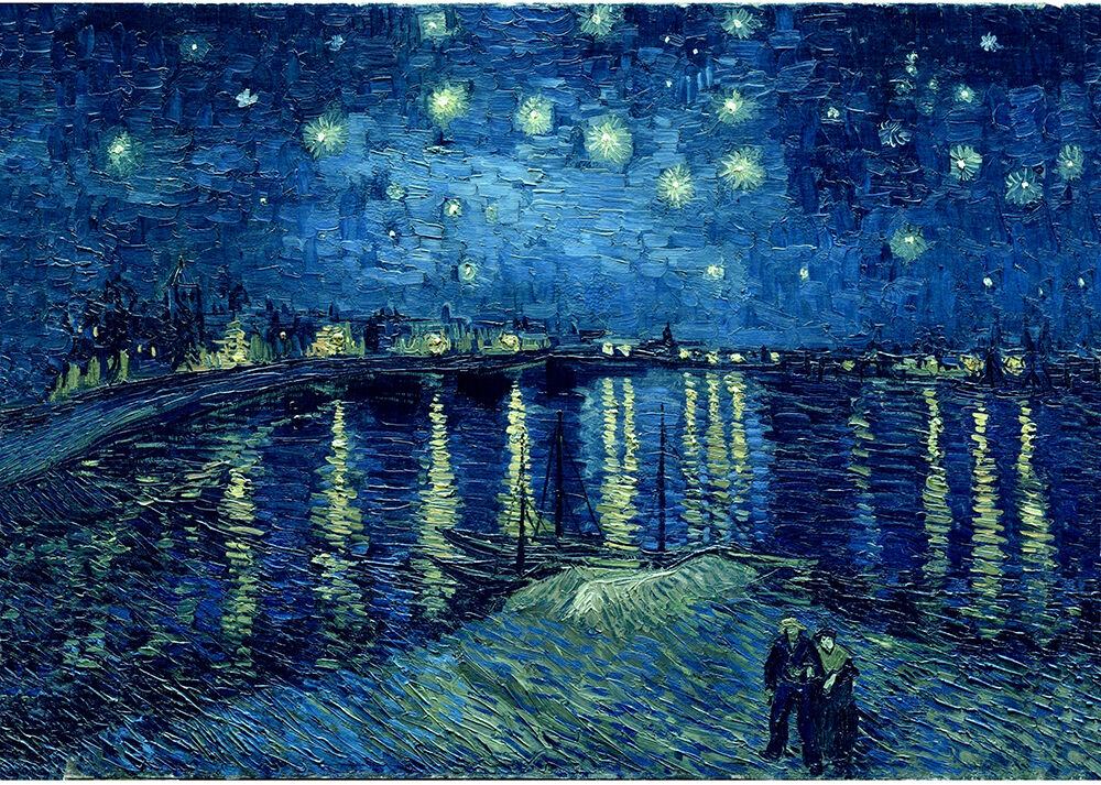 van gogh starry night over the rhone museum quality giclee. Black Bedroom Furniture Sets. Home Design Ideas