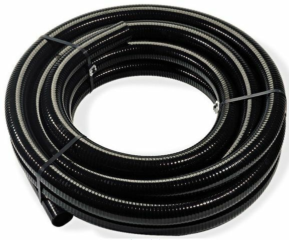Quot black flexible pvc pipe hose pond tubing for
