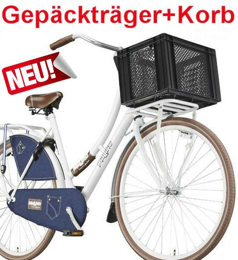 fahrrad gep cktr ger wei korb schwarz hollandrad vorne. Black Bedroom Furniture Sets. Home Design Ideas