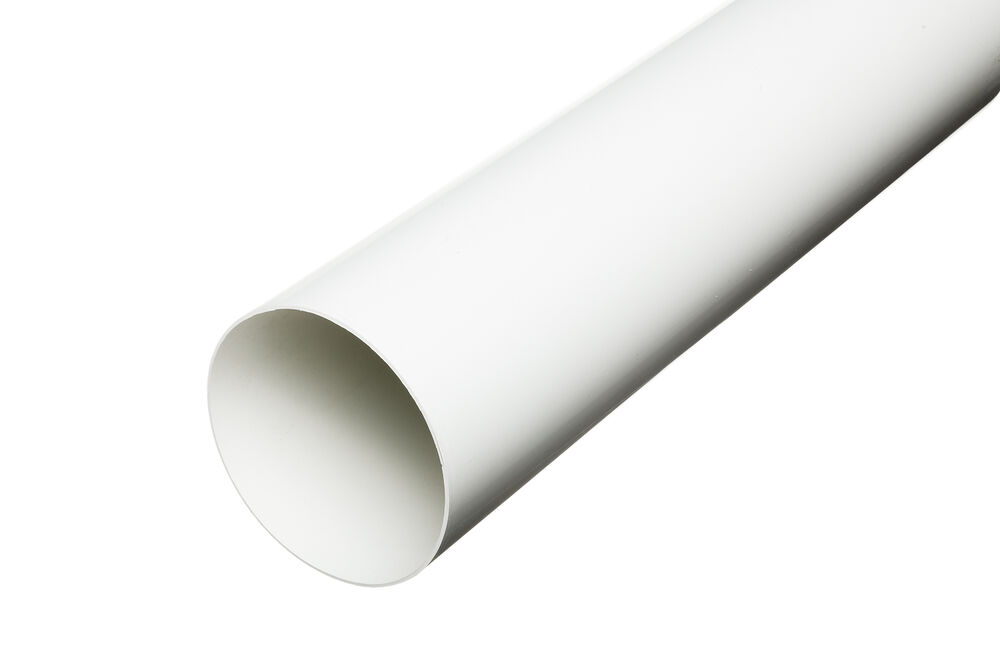 Quot mm plastic solid duct round ducting pipe ventilation