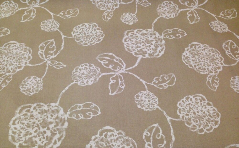 magnolia home adele linen beige floral toile furniture fabric by the yard 54 w ebay. Black Bedroom Furniture Sets. Home Design Ideas