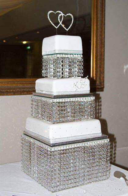 Crystal Wedding Cake Stand 3 Tier Real Swarovski Element