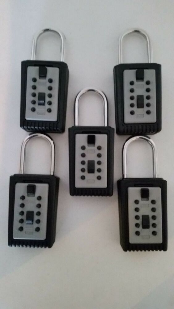 5 realtor real estate push button lockboxes key safe vault