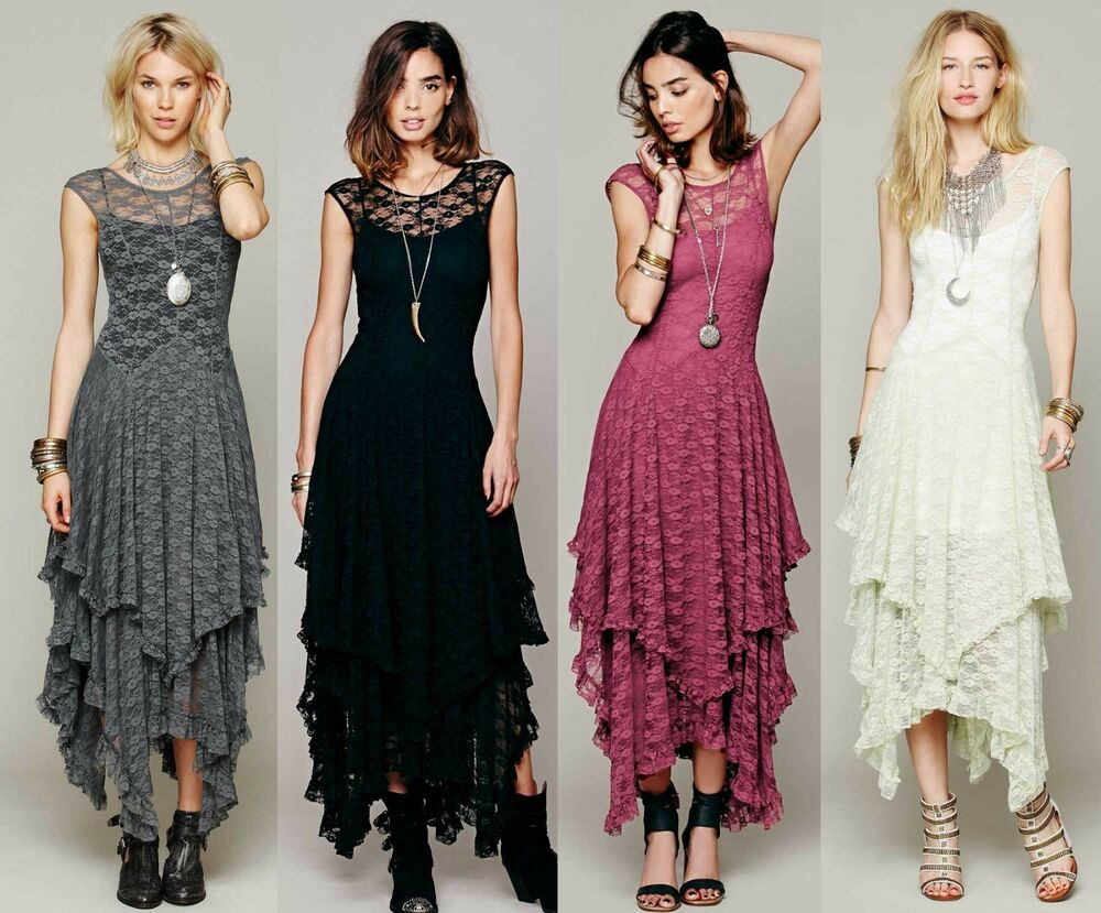 Women Sexy Vintage Party Evening BOHO Bodycon Maxi Long