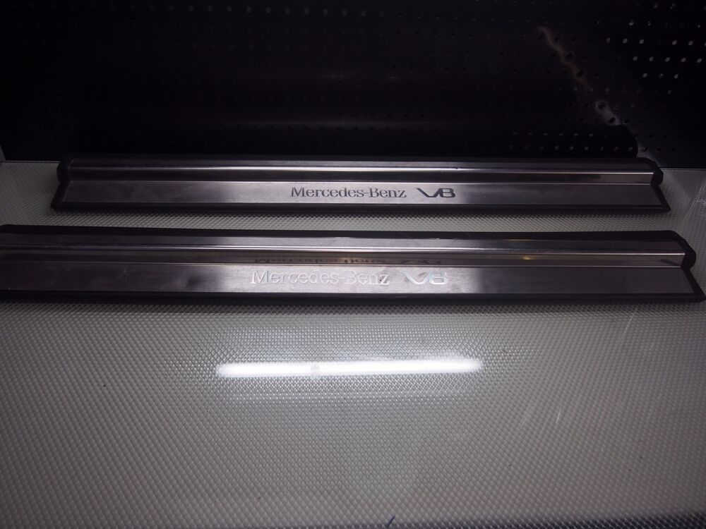 Illuminated door sills for mercedes benz clk w208 for Mercedes benz door sill