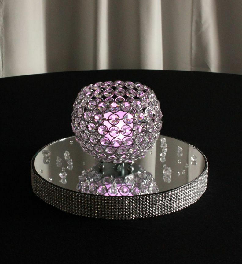 Crystal bling globe votive tealight candle holders table