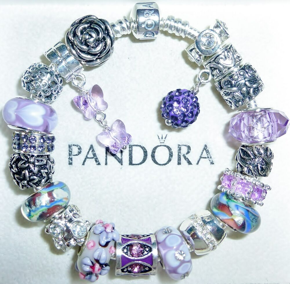 """Jewelry Stores That Sell Pandora Bracelets: Authentic Pandora Bracelet With European Charms """"Violet"""