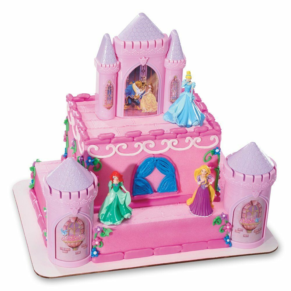 Disney Princess Cake Decoration Kit : DecoPac Disney Princess Castle CAKE KIT Decorations Topper ...