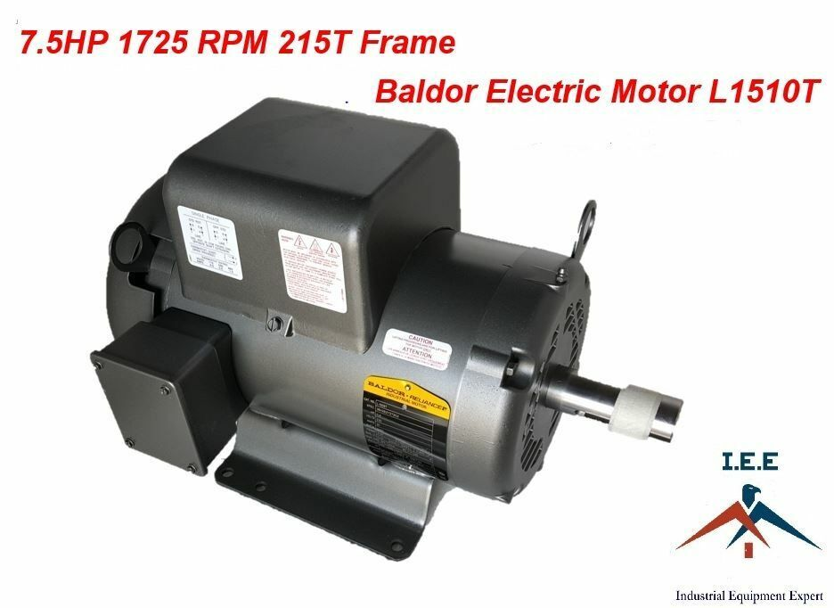 L1510t 7 5 hp 1725 rpm new baldor electric motor air for Vfd for 5hp motor