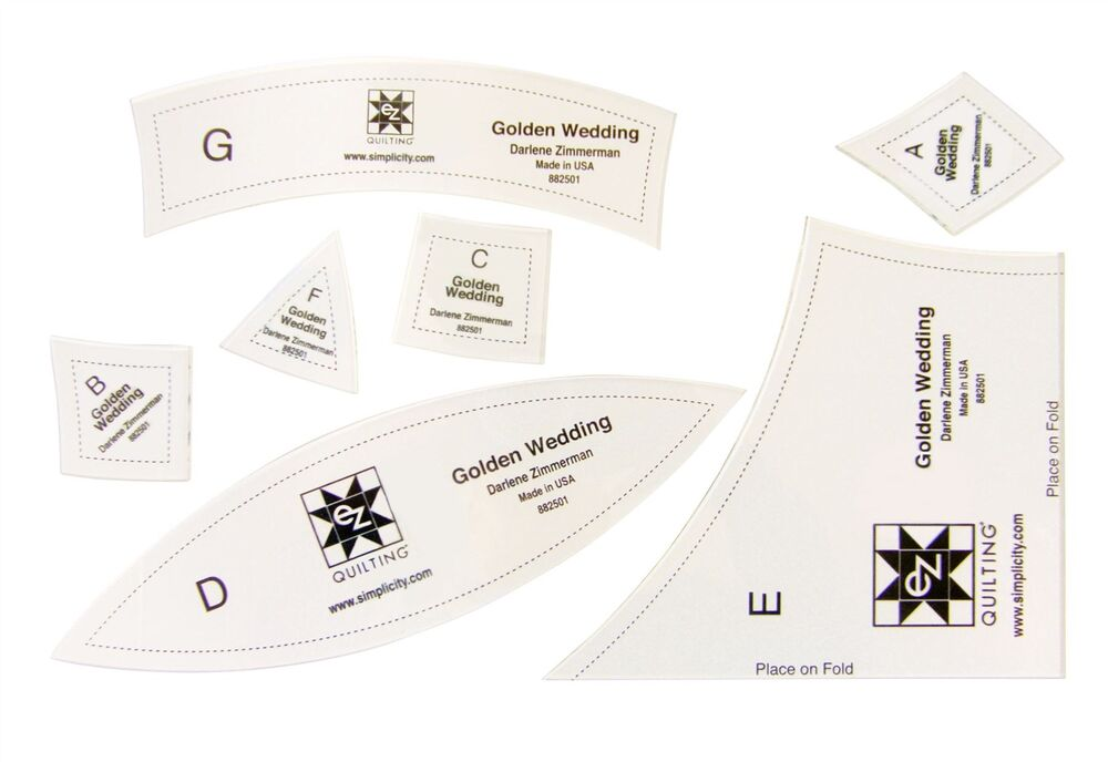 How To Use Acrylic Quilting Templates : Golden Wedding Ring Acrylic Quilting Template eBay