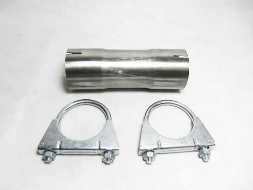Quot stainless steel mm exhaust pipe clamp on connector