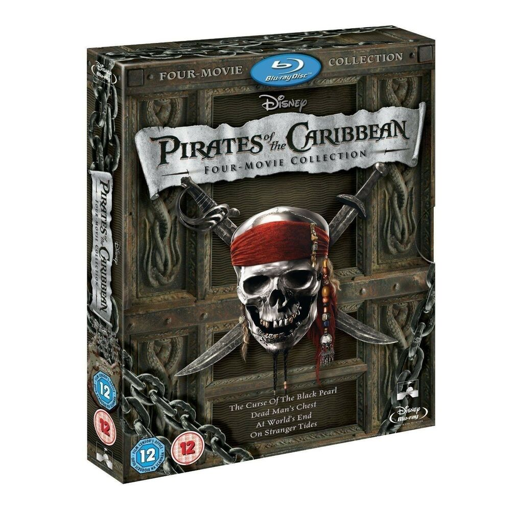pirates of the caribbean 1 4 movie collection bluray