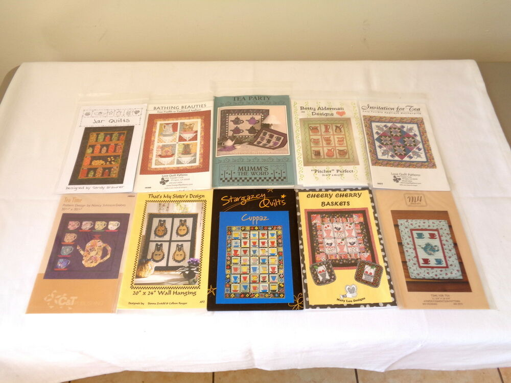 10 ASSORTED KITCHEN THEMED ARTS & CRAFTS QUILT / WALLHANGING PATTERN DESIGNS eBay