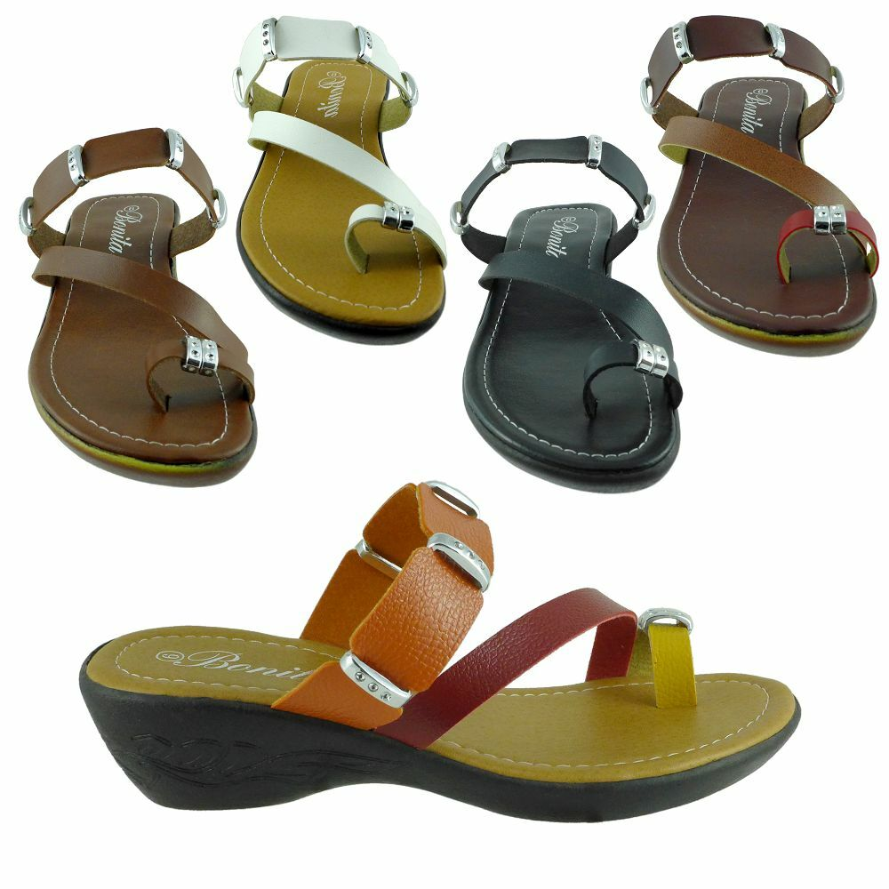 New Womens Gladiator Sandals Wedge Shoes Low Heels Fashion ...