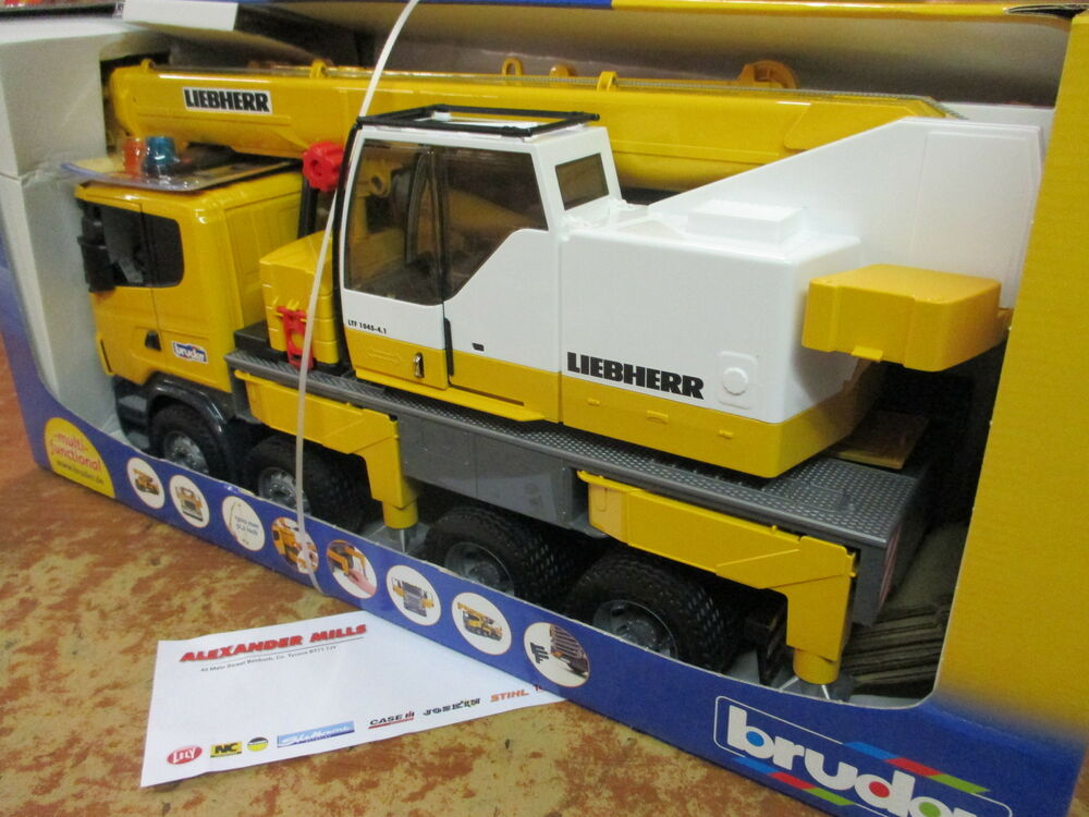 Bruder Construction Toys For Boys : Bruder scania r series lorry with liebherr crane