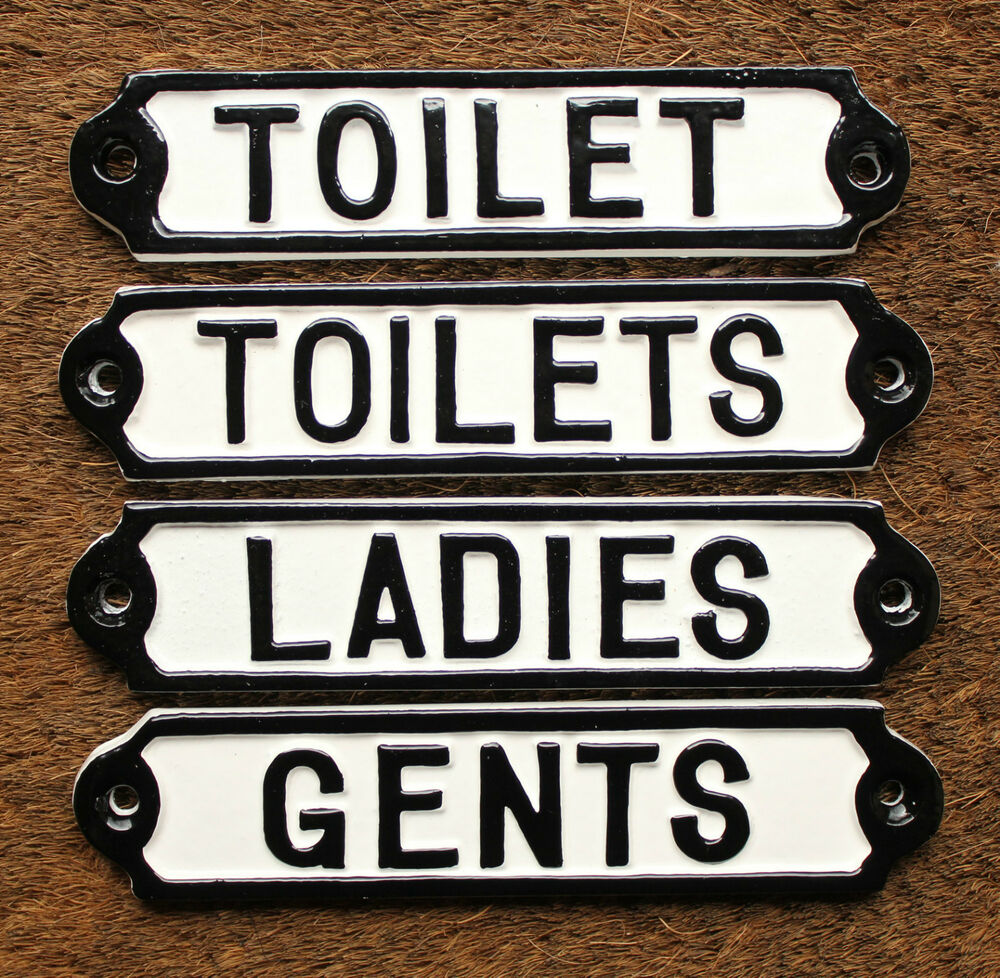 Toilets Ladies Gents Toilet Signs Vintage Antique Shabby