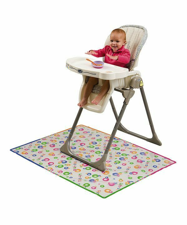 mommys helper splat mat plastic cover baby high chair mess floor protector 79220 ebay. Black Bedroom Furniture Sets. Home Design Ideas