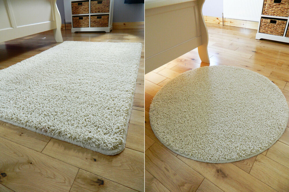 Small large cream non slip washable soft bedroom carpet for Small rug for bedroom