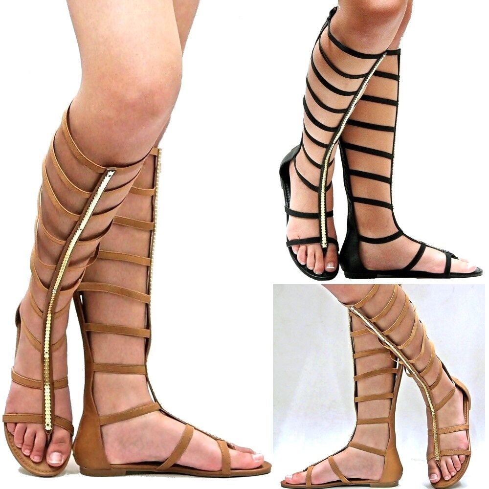 Knee High Gladiator Heels Cheap