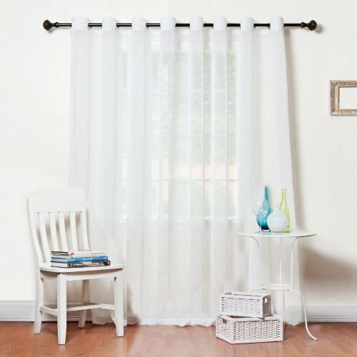 Wide Width Crushed Voile Sheer Grommet Top Curtain 100 Quot W