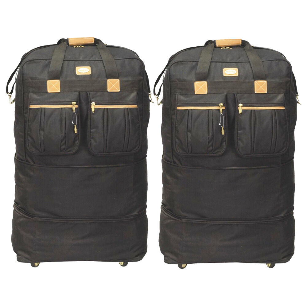 pack of 2 40 rolling wheeled duffel bags spinner. Black Bedroom Furniture Sets. Home Design Ideas