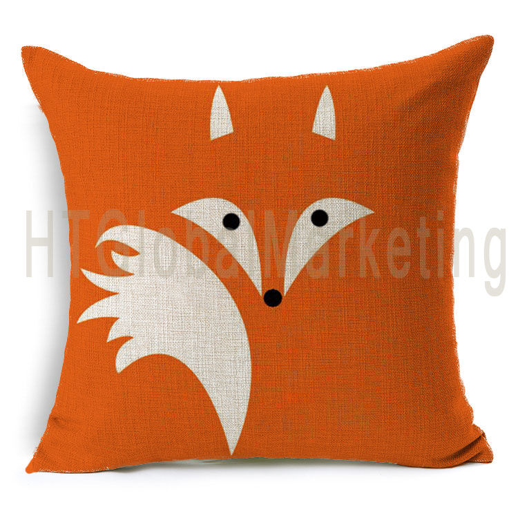 Decorative Pillow Designs : Abstract Fox Design Home Decor Soft Linen Cushion Cover Square Throw Pillow Case eBay
