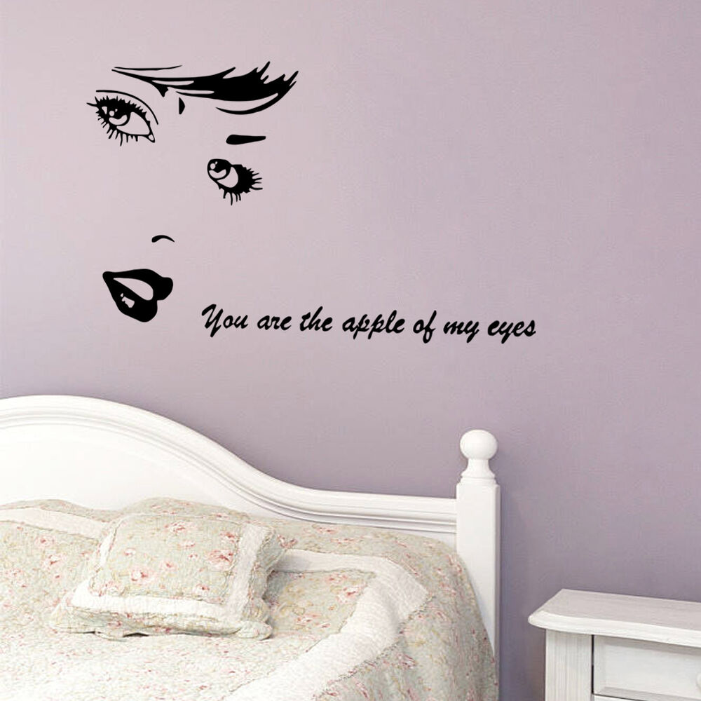 Marilyn monroe quote vinyl wall stickers art mural home for Wall decals for home