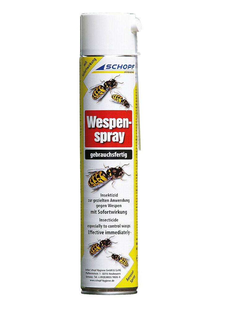 schopf wespenspray 750 ml spraydose effektives aerosol gegen wespen nester ebay. Black Bedroom Furniture Sets. Home Design Ideas