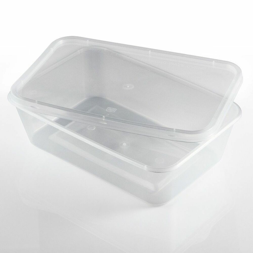 Food Containers Plastic Takeaway Microwave Freezer Storage