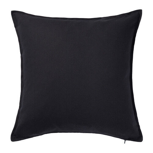 ikea gurli cushion cover black decor cover pillow 100. Black Bedroom Furniture Sets. Home Design Ideas