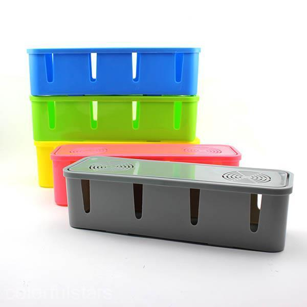 new arrival safety cable box organizer storage box socket outlet board container ebay. Black Bedroom Furniture Sets. Home Design Ideas