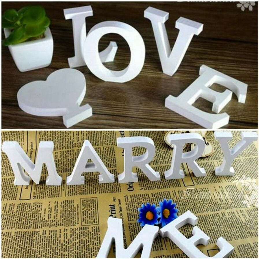 26 Wooden Freestanding Letters Love Alphabet Wedding Party