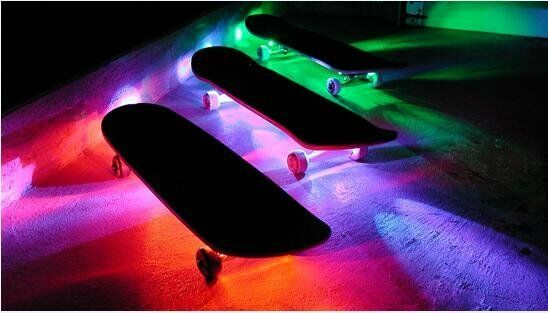Led Skateboard Lights Quarter Pipe Mini Ramp Half Vert