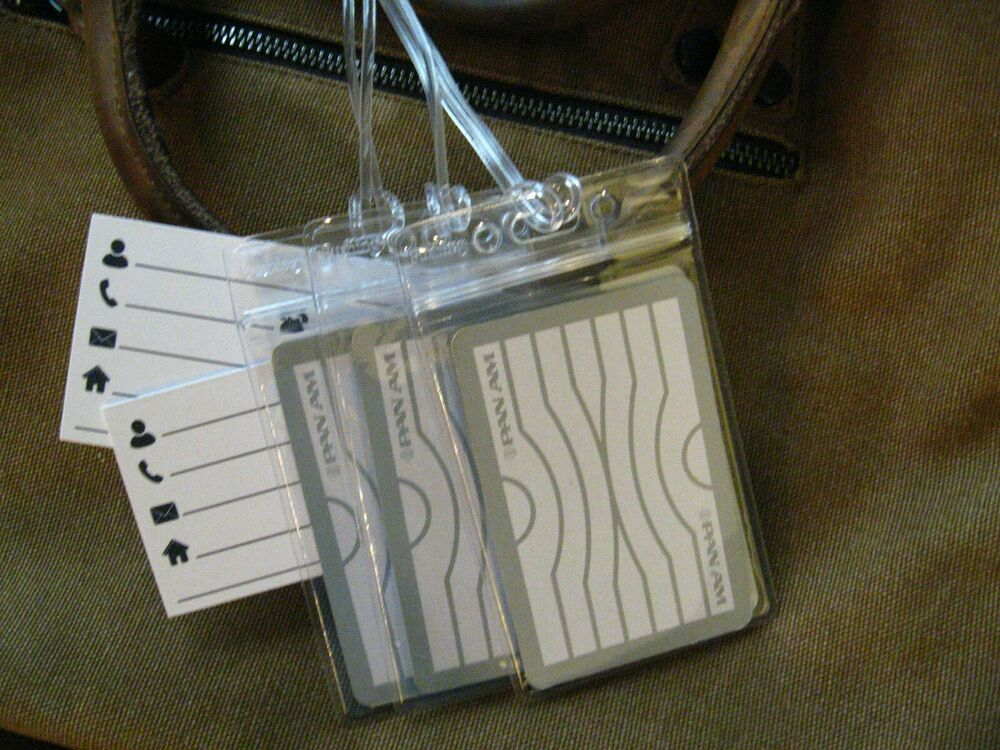 Luggage Tags: Pan American Airlines Vintage
