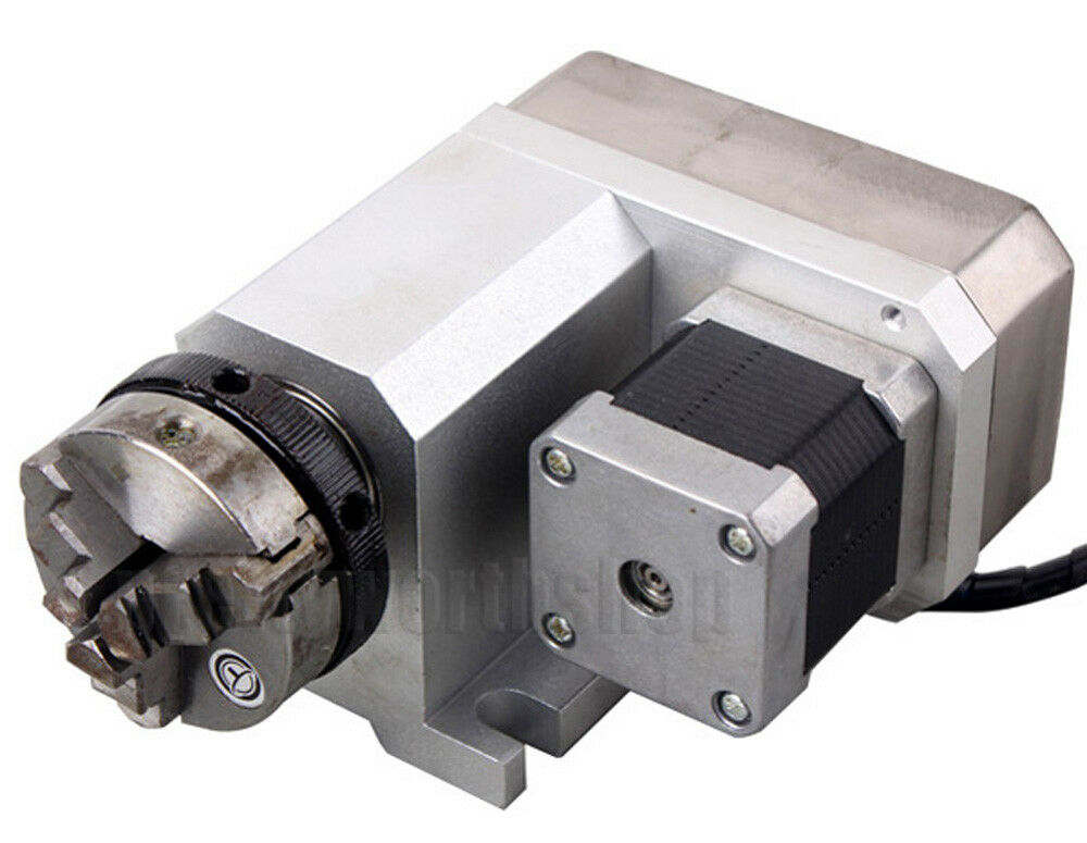 Router rotational rotary axis a axis 4th axis 50mm chuck for Cnc rotary table with stepper motor
