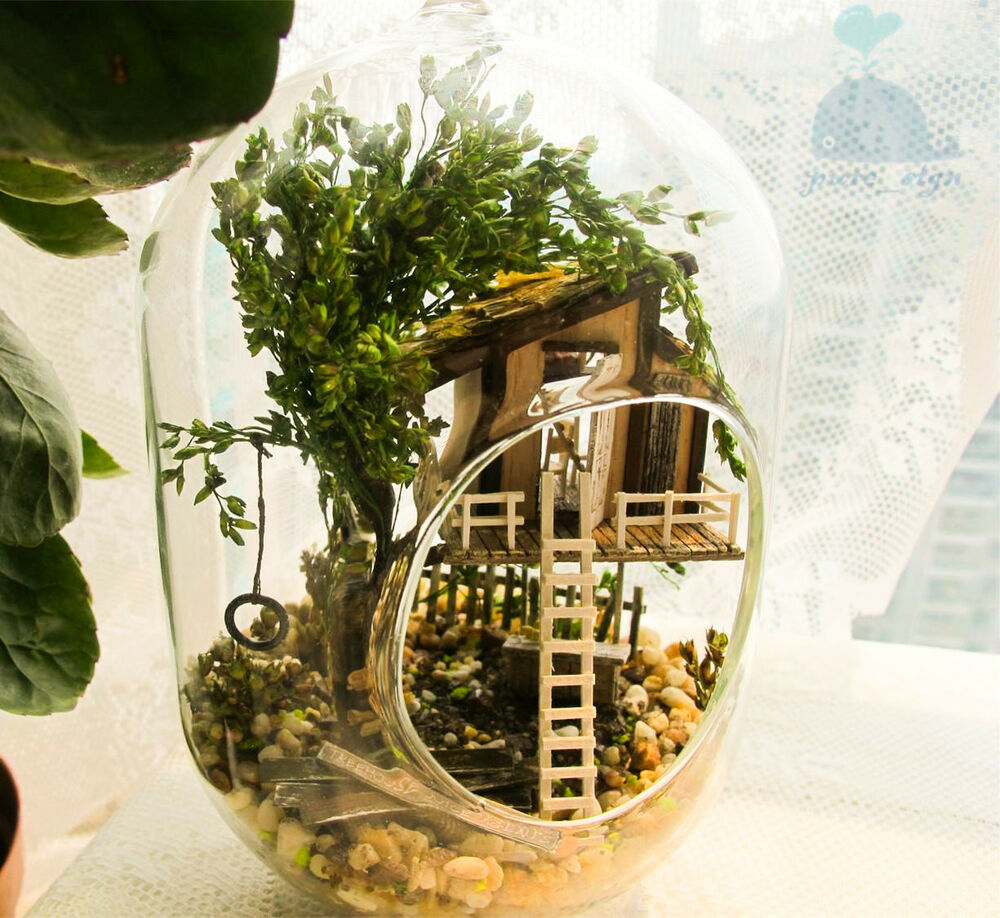 Diy handcraft miniature project kit wooden dolls house the for Treehouse kits do it yourself