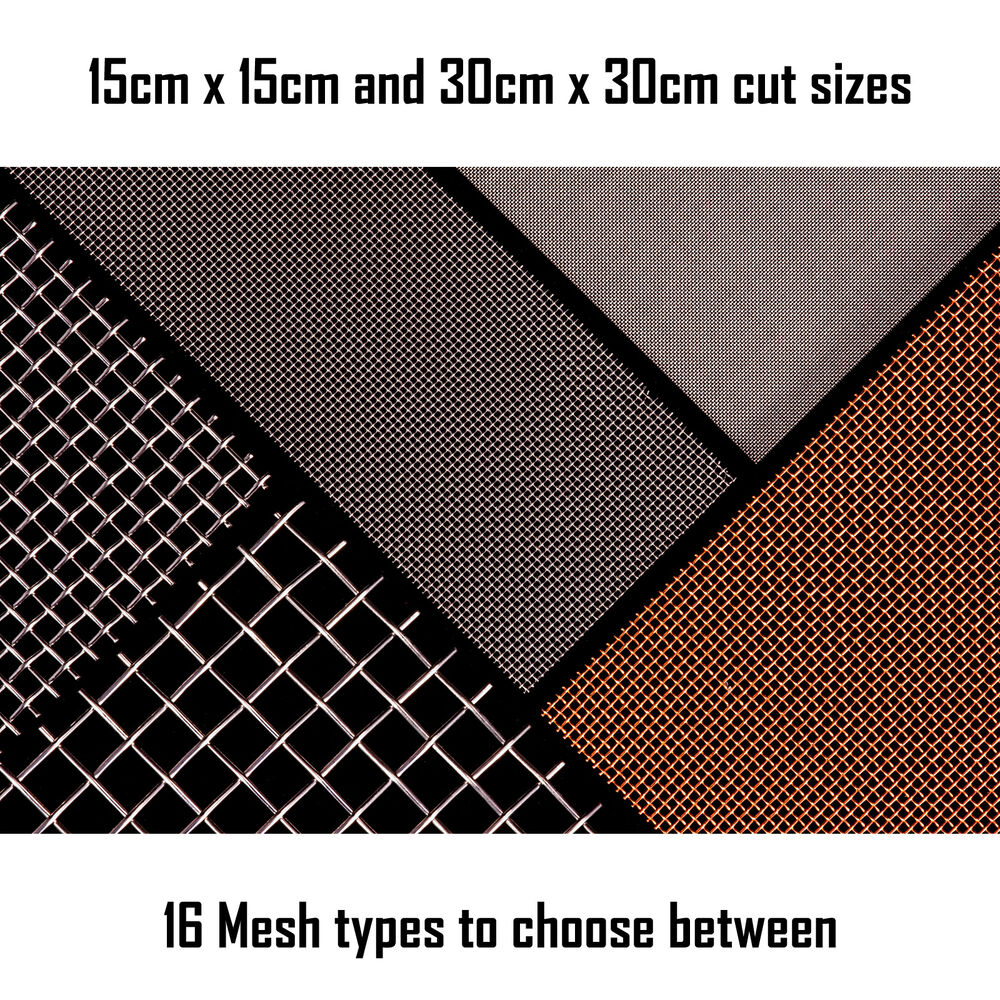 woven wire mesh sheet 15cm and 30cm square fine screen. Black Bedroom Furniture Sets. Home Design Ideas
