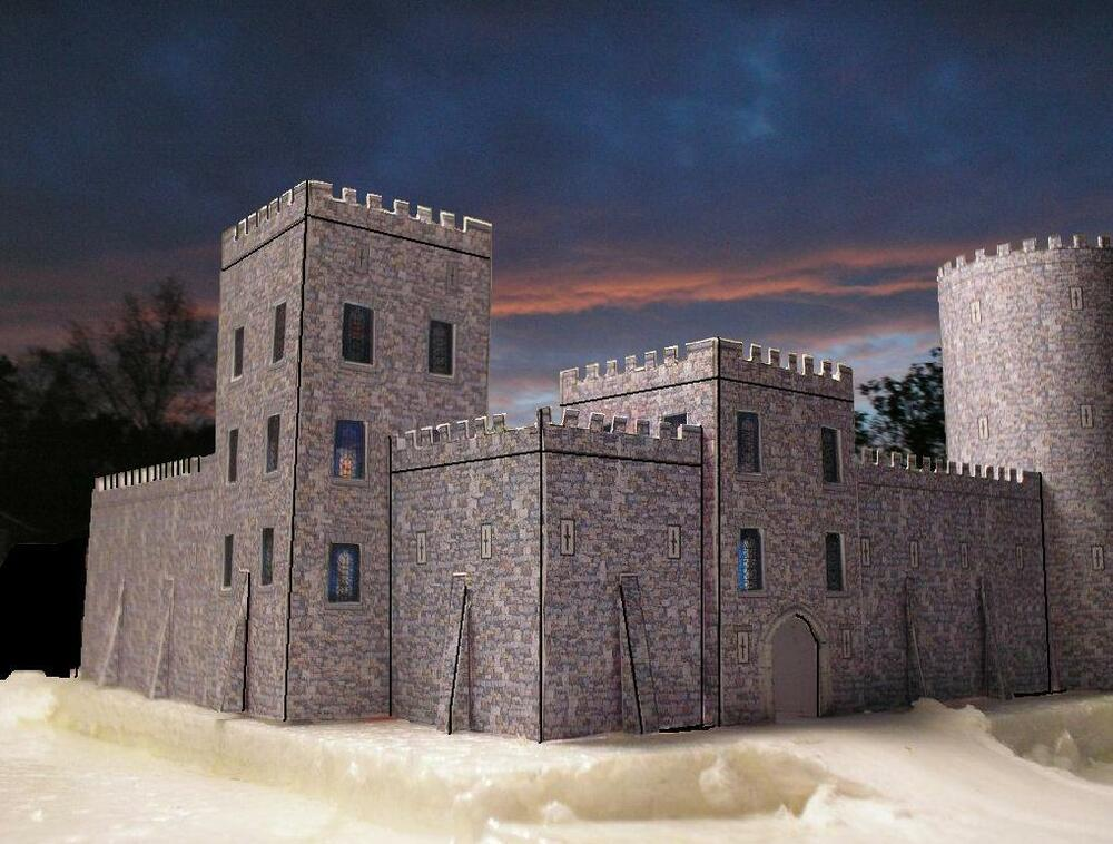 Medieval Castle Card Kit - Building - model - various ...