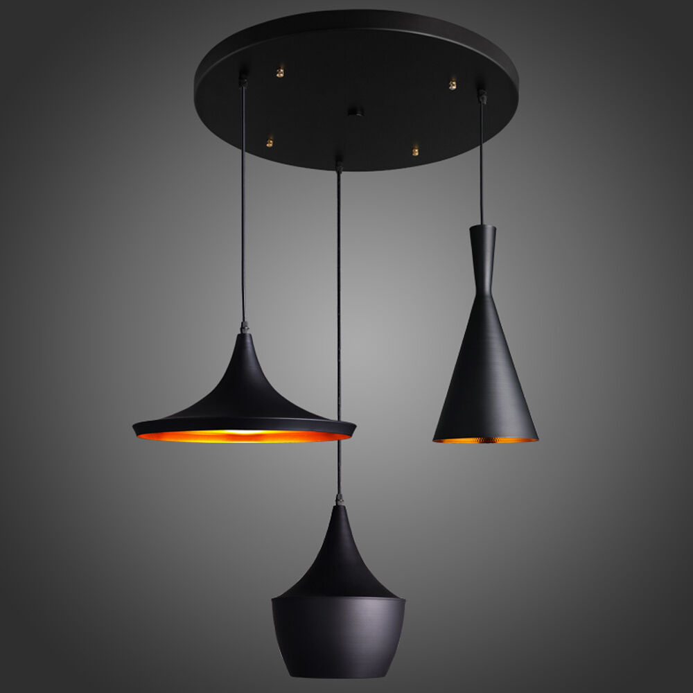 White Ceiling Lamps: Black/White/Red Beat Style Ceiling Pendant Light Lamp