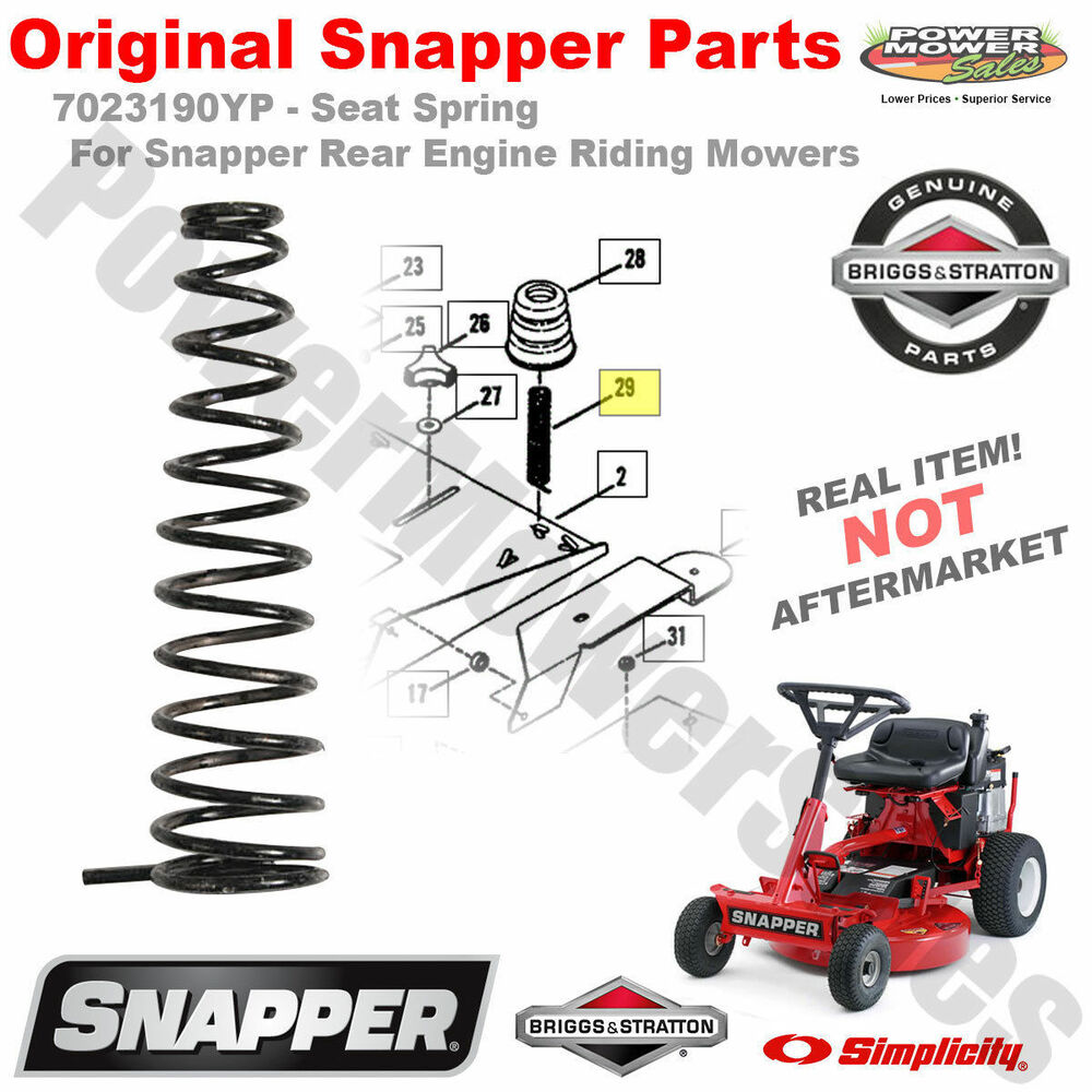 Snapper 7023190yp Seat Spring For Rear Engine Riding