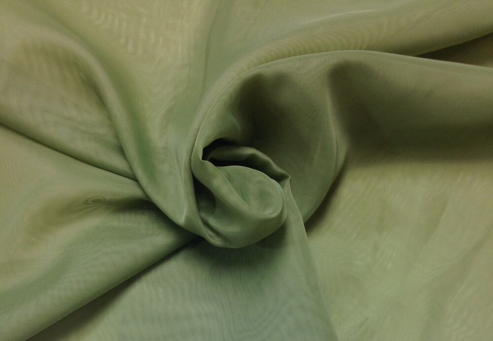 Sheer Green 694 Sheer Curtain Drapery Home Lining Fabric By The Yard 116 Wide Ebay