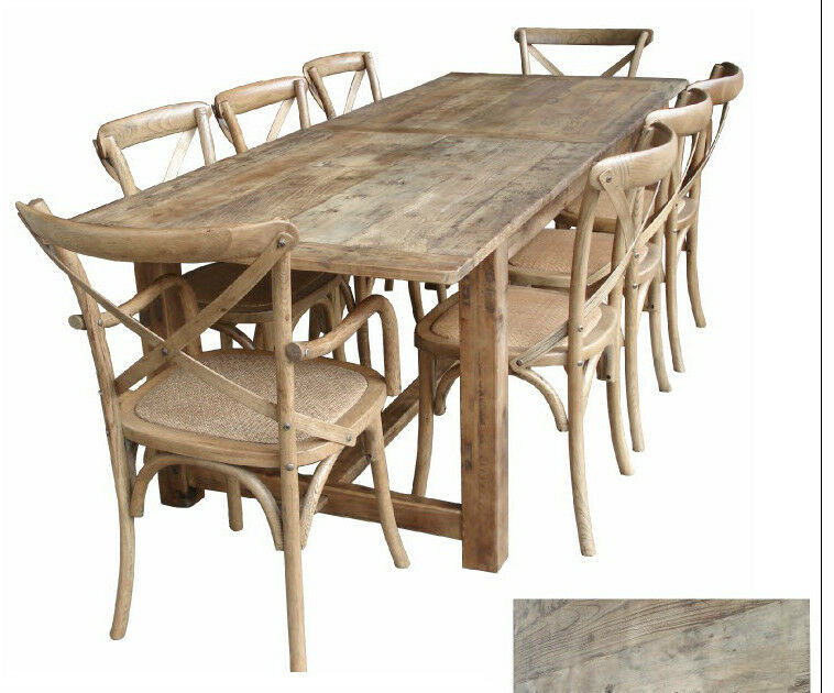 Rustic oregon french provincial farm house dining table for French farmhouse dining chairs