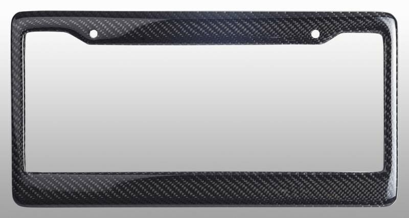 Real 100 Carbon Fiber License Plate Frame Tag Cover